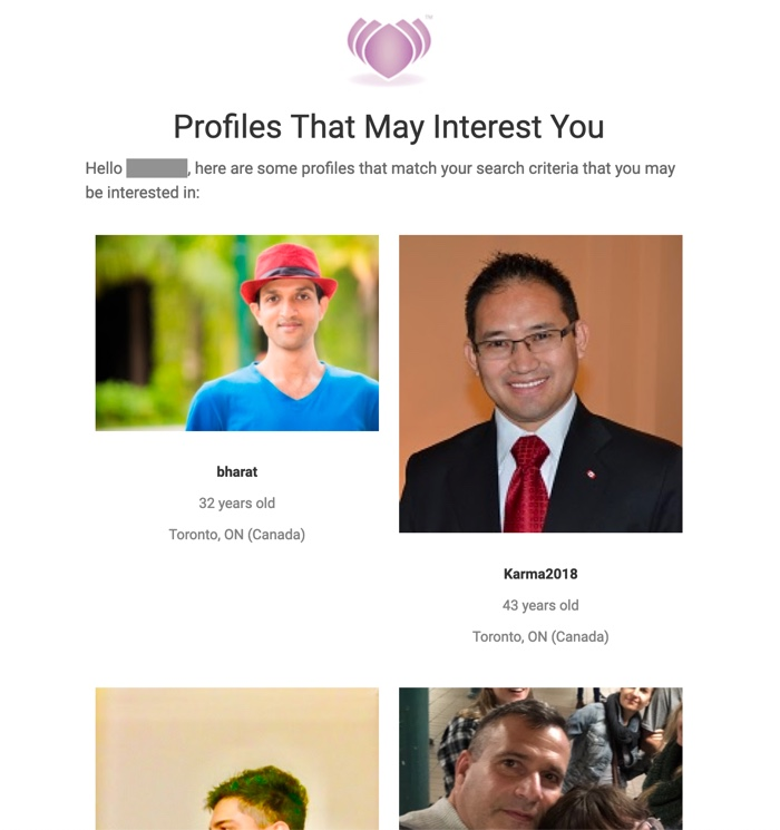 Profiles That May Interest You Mailing on desktop